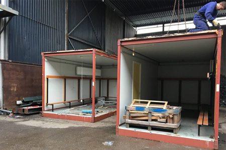 lockerroom constructie