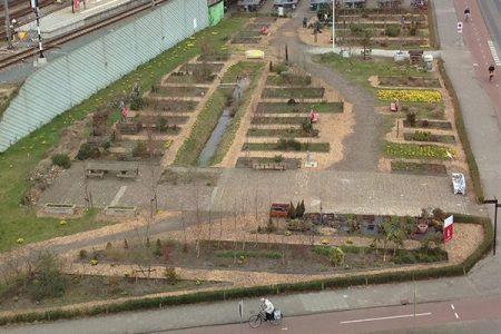 circulair bouwen vloer kweektuin singelpark Leiden